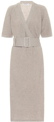 Agnona Cashmere and cotton-blend knit dress