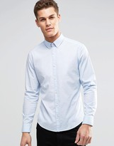 Esprit Cotton Shirt in Slim Fit with Stretch