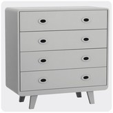 Laurette You and Me Chest of Drawers - Light Grey
