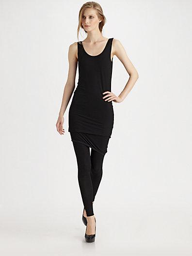 Donna Karan Refined Matte Jersey Scoopneck Dress
