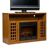 Southern enterprises Narita Pine Media Console & Electric Fireplace