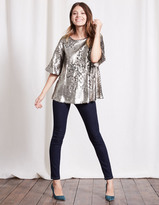 Boden Statement Sequin Top