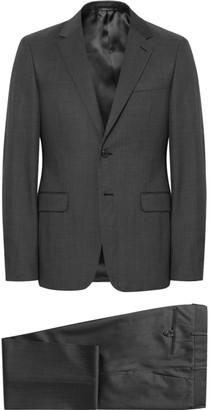 Prada Charcoal Slim-Fit Pin-Dot Virgin Wool Suit