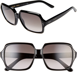 Celine 59mm Oversize Square Sunglasses
