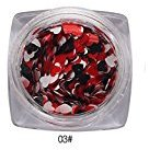 Paymenow Mixed Small Heart Thin Nail Art Glitter Paillette Nail Tip Gel Polish Decoration (C)