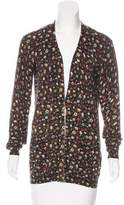 Marc by Marc Jacobs Floral Print V-Neck Cardigan