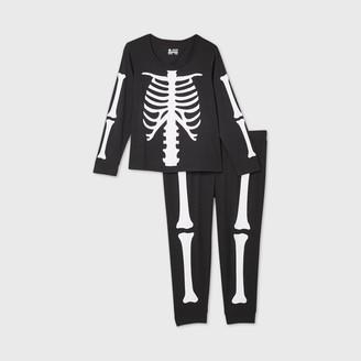 Nobrand Women's Plus Size Halloween Skeleton Matching Family Pajama Set -