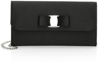 Salvatore Ferragamo Vara Rainbow Satin Clutch