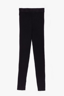 Nasty Gal Womens Time for You Knitted Lounge Leggings - Black - S/M