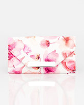 Le Château Floral Print Leather-Like Flapover Clutch
