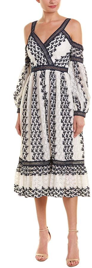 Ever New Cold-Shoulder Midi Dress