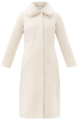 Stand Studio Jennifer Single-breasted Faux-fur Teddy Coat - Ivory