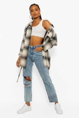 boohoo Acid Wash Distressed Boyfriend Jeans
