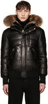 Mackage Black Leather Down Glen Jacket