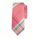 J.Crew Boys' indian cotton tie in rhone red plaid