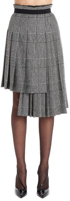 Ermanno Scervino Plaid Asymmetric Pleated Skirt