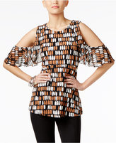 Alfani Cold-Shoulder Top, Created for Macy's