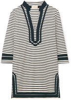 Tory Burch Striped Cotton-blend Terry Tunic