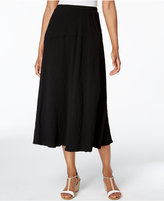 Alfred Dunner Lace It Up Crinkled Midi Skirt