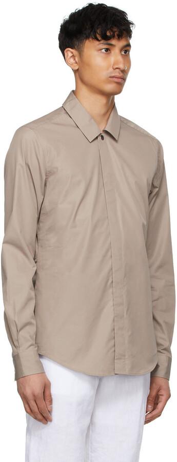 Thumbnail for your product : Ermenegildo Zegna Couture Taupe Poplin Shirt