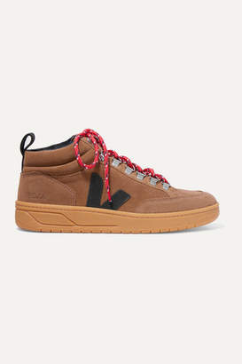Veja + Net Sustain Roraima Suede And Leather High-top Sneakers - Brown