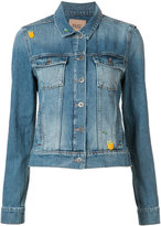 Paige flap pockets denim jacket - women - Cotton/Polyester - S