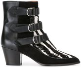 Isabel Marant 'Dickey' boots - women - Leather/Suede/Calf Hair - 36