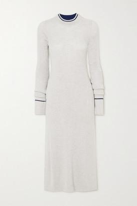 Maison Margiela Ribbed Wool-blend Top - Gray