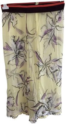 Marni Yellow Silk Skirt for Women