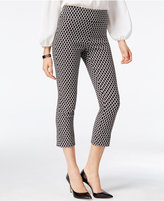 INC International Concepts Petite Printed Jacquard Cropped Pants, Only at Macy's