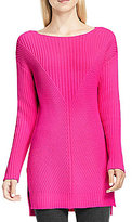 Vince Camuto Crew Neck Ribbed Texture Sweater