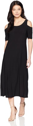 Tiana B Women's Petite Cold Shoulder Maxi Dress