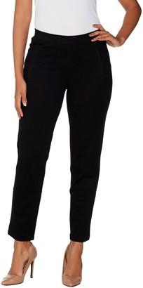 H by Halston Petite Slim Leg Ultra Knit Pull-On Ankle Pants
