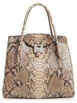Michael Kors Large Bancroft Genuine Python Satchel
