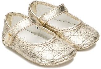 Christian Dior Metallic Ballerinas
