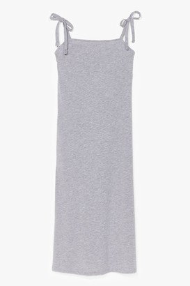 Nasty Gal Womens All Tie Need Relaxed Midi Dress - Grey - 8