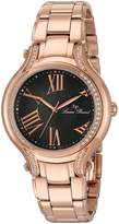 Lucien Piccard Women's 'Elisia' Quartz Stainless Steel Automatic Watch, Rose Gold-Toned (Model: LP-16353-RG-104)