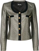 Just Cavalli metallic effect cropped jacket