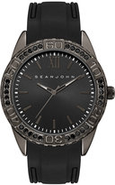 Sean John Men's Bond Black Silicone Strap Watch 48mm