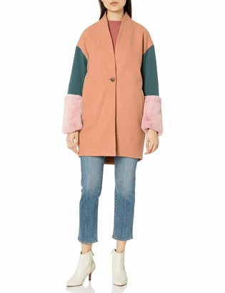 Blank NYC Women's Faux Fur Color Coat