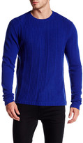 Autumn Cashmere Micro Braided Stitch Crew Neck Sweater