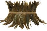 Rosantica Selva Gold-tone Feather Waist Belt - Green