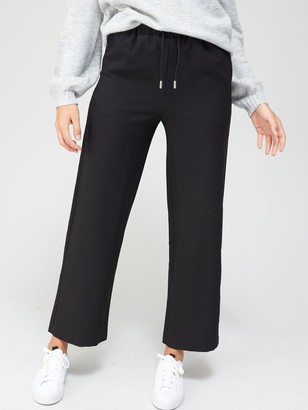 Very Tailored Wide Leg Joggers - Black