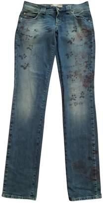 John Galliano Navy Cotton - elasthane Jeans for Women