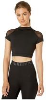 Bloch Cap Sleeve Crop Top (Black) Women's Clothing