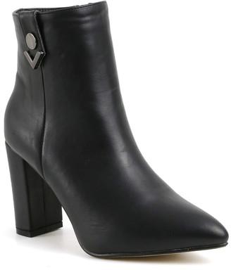Catherine Malandrino Jonathan Vegan Leather Block Heel Bootie