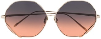 Linda Farrow Fawcet hexagonal-frame sunglasses
