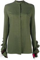 Haider Ackermann ruffle sleeve shirt - women - Silk/Viscose - 38