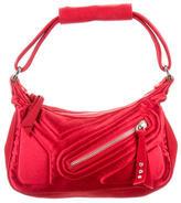 Tod's Crystal Embellished Satin Handle Bag