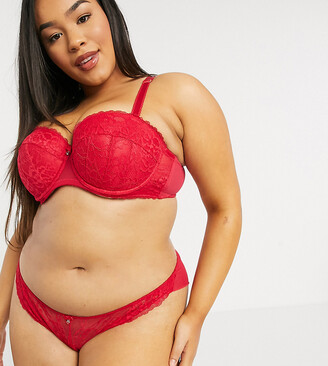 Ann Summers Curve Sexy Lace brazilian knicker in red